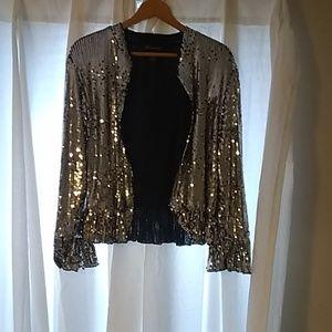 Inc International Concepts Silver sequins jacket